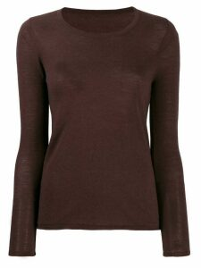 Sottomettimi round neck jumper - Brown