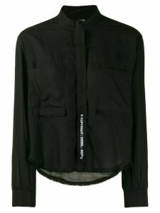 Diesel Fluid shirt with knitted detail - Black