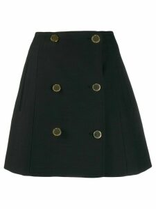 Stella McCartney buttoned high-waisted skirt - Black