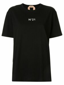 Nº21 logo relaxed T-shirt - Black