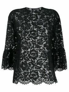 Valentino lace three-quarter sleeves blouse - Black