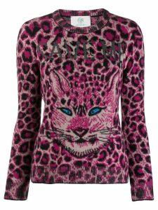 Alberta Ferretti cat print jumper - PINK