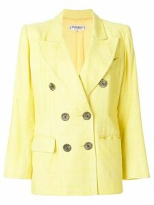 Yves Saint Laurent Pre-Owned double breasted blazer - Yellow