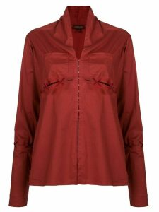 Romeo Gigli Pre-Owned slit lace-up detailing blouse - Red