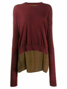 Uma Wang contrast back sweater - Red