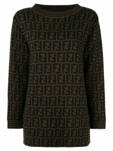 Fendi Pre-Owned FF logo jumper - Brown