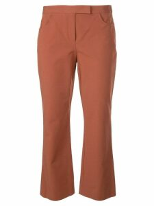 Theory slim cropped trousers - Brown