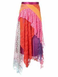 Sies Marjan multi-panel ruffle midi skirt - Multicolour