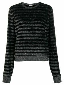 Saint Laurent metallic stripe jumper - Black