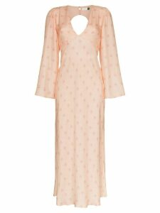 Rixo Nadia floral-print open-back dress - PINK