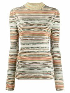 Missoni striped knitted top - NEUTRALS