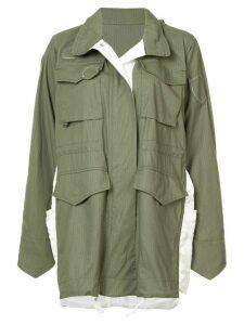 Sacai oversized parka jacket - Green