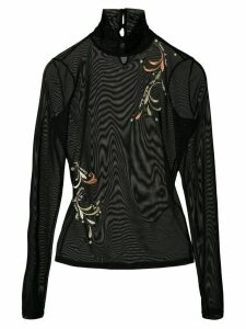 Cinq A Sept whimsical paisley turtleneck - Black