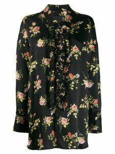 R13 floral print shirt - Black