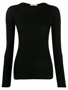 Stefano Mortari sheer knitted top - Black