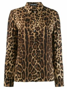 Dolce & Gabbana leopard-print shirt - Brown
