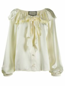 Gucci ruffled pussybow blouse - Yellow