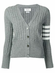 Thom Browne 4-Bar baby cable cashmere cardigan - Grey