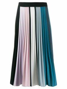Ssheena pleated midi skirt - Blue