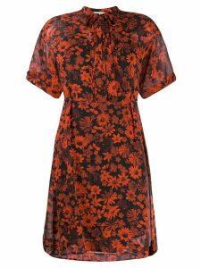 McQ Alexander McQueen floral print dress - Red
