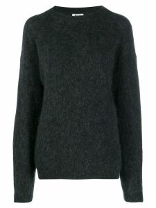 Acne Studios Dramatic Moh crew neck jumper - Grey