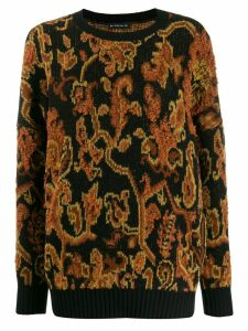 Etro paisley embroidered sweater - Brown