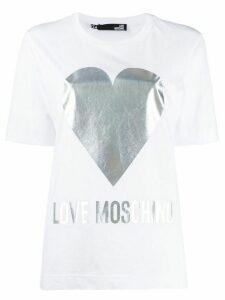 Love Moschino printed logo T-shirt - White