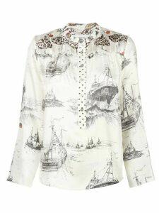 La Prestic Ouiston mandarin collar shirt - White