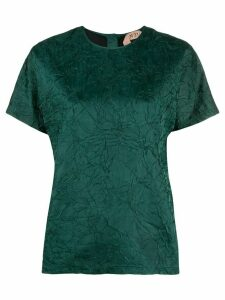 Nº21 crinkled effect blouse - Green