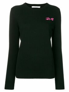 Derek Lam 10 Crosby eye intarsia jumper - Black