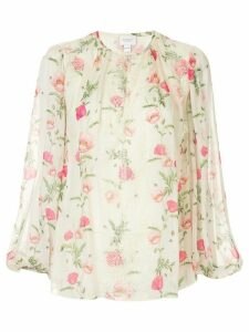 Giambattista Valli floral print blouse - Yellow