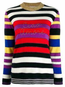 Giada Benincasa stripe print jumper - Red