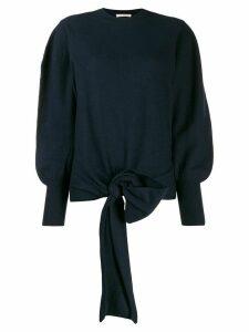 Ulla Johnson tie-waist oversized jumper - Blue
