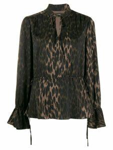Steffen Schraut Luxury Animal blouse - NEUTRALS
