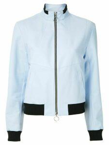 Reinaldo Lourenço funnel neck bomber jacket - Blue