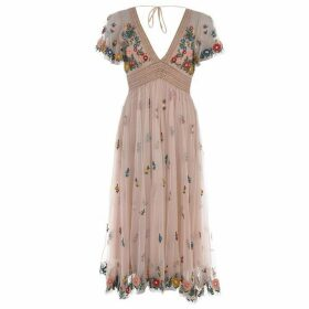 Frock and Frill Frock Embroidered Midi Dress Womens