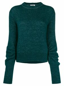 Chloé ruched sleeve knitted jumper - Green