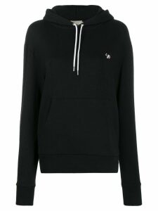 Maison Kitsuné fox patch hoodie - Black