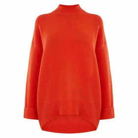 Oasis Briella Turtle Curve Hem Jumper