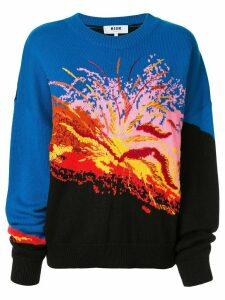 MSGM intarsia-knit jumper - Multicolour