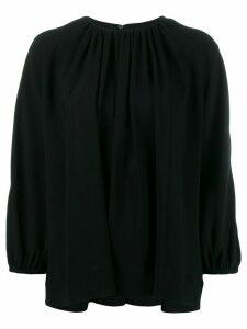 Rochas pleated long sleeved top - Black