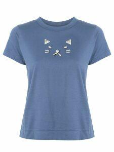 Tu es mon TRÉSOR Cat bijou T-shirt - Blue