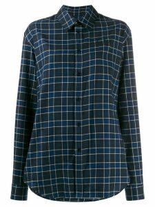 Martine Rose check print long-sleeved shirt - Blue