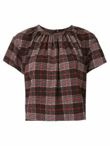 À La Garçonne pleated check blouse - Black