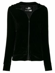 Plein Sport velour tiger zip hoodie - Black