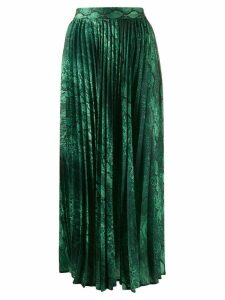 Andamane snakeskin print pleated skirt - Green
