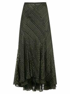 DVF Diane von Furstenberg Debra crinkle skirt - Black