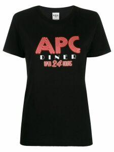 A.P.C. logo print T-shirt - Black