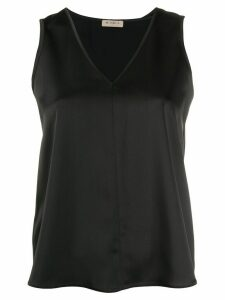Blanca Vita V-neck blouse - Black