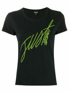 Just Cavalli embroidered logo T-shirt - Black
